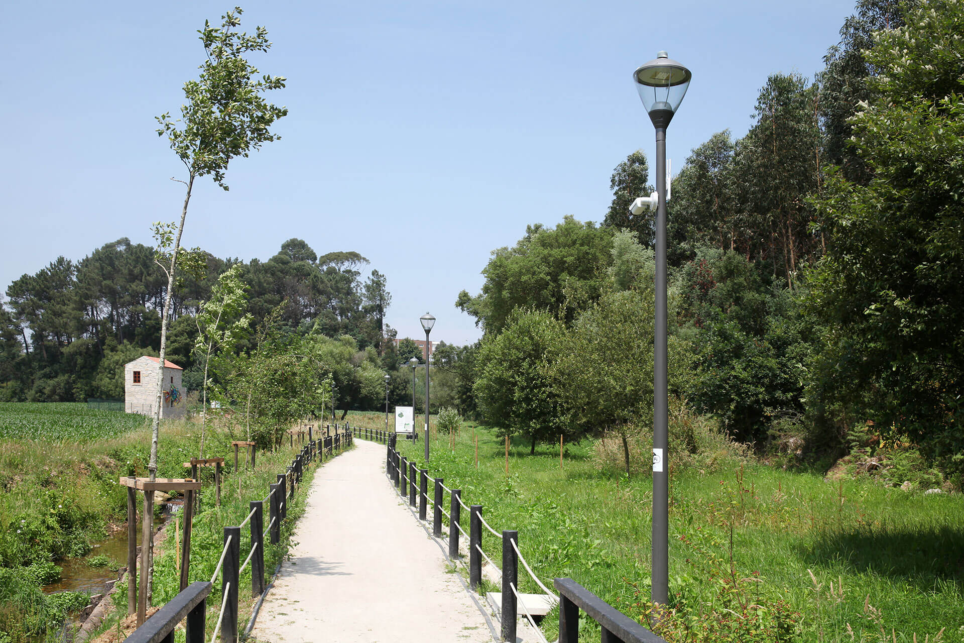 Kio LED ensures safety and comfort on this eco-trail in the most sustainable way