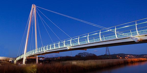 Schréder a bat friendly lighting solution for Town Quay Bridge in Devon which is in a bat conservation zone