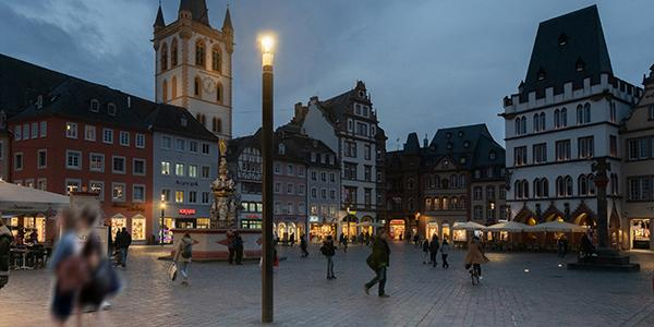 Visitors to Trier city centre can stay connected thanks to Shuffle columns that provide free WiFi